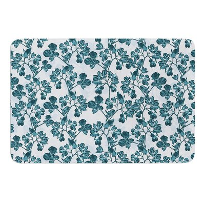 Flowers by Julia Grifol Bath Mat Size: 17 W x 24 L
