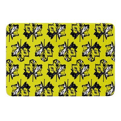 Tree Leaves by Julia Grifol Bath Mat Size: 17 W x 24 L