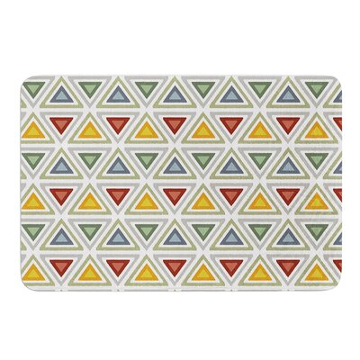 Ikat Triangles by Julia Grifol Bath Mat Size: 17 W x 24 L