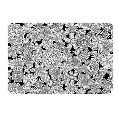 Welcome White Birds by Julia Grifol Bath Mat