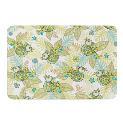 Summer Birds by Julia Grifol Bath Mat