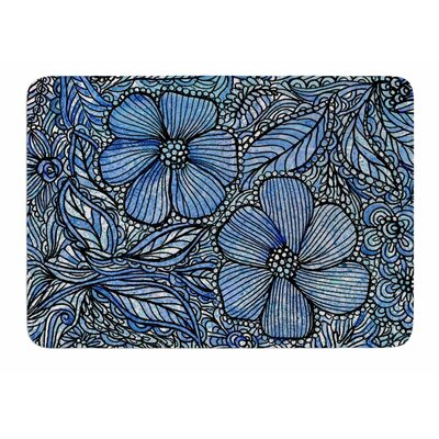 Blue Flowers In My Garden by Julia Grifol Bath Mat