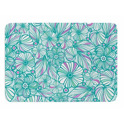 My Turquoise Flowers by Julia Grifol Bath Mat