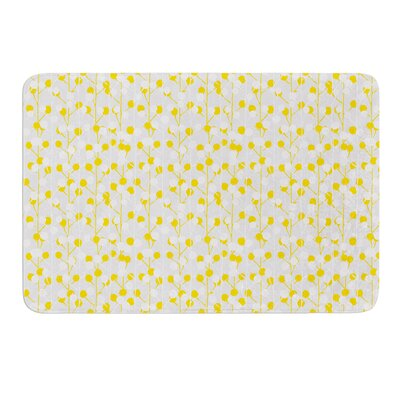 Lemon Drop by Julie Hamilton Bath Mat Size: 17 W x 24 L