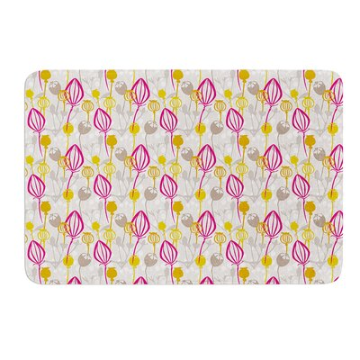 Mulberry by Julie Hamilton Bath Mat Size: 17 W x 24 L