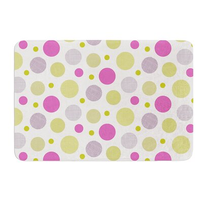 Rhapsody Dot by Julie Hamilton Bath Mat Size: 17 W x 24 L