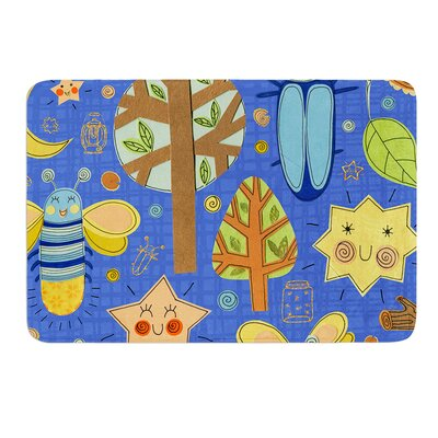 Lightning Bug by Jane Smith Bath Mat Size: 17