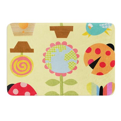 Spring Repeat by Jane Smith Bath Mat Size: 17 W x 24 L