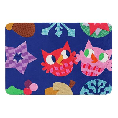 Winter Repeat by Jane Smith Bath Mat Size: 17 W x 24 L
