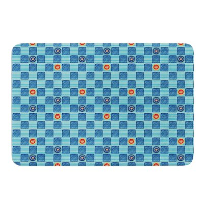 Vintage Checkerboard by Jane Smith Bath Mat Size: 17 W x 24 L