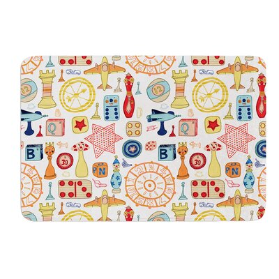 Vintage Games by Jane Smith Bath Mat Size: 24 W x 36 L