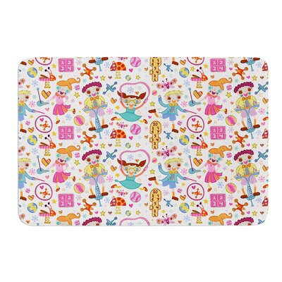 Vintage Playground IIII by Jane Smith Bath Mat Size: 17 W x 24 L