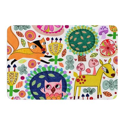Woodland Critters by Jane Smith Bath Mat Size: 24 W x 36 L