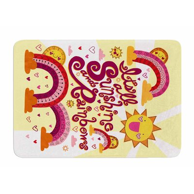 Its All Sunshine and Rainbows by Jane Smith Bath Mat
