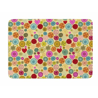 Vintage Buttons by Jane Smith Bath Mat