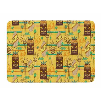 Surfing Tiki by Jane Smith Bath Mat