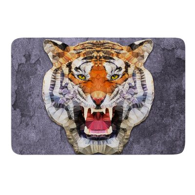 Abstract Tiger by Ancello Bath Mat Size: 24 W x 36 L