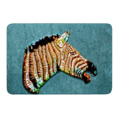 Laughing Zebra by Ancello Bath Mat Size: 17W x 24L