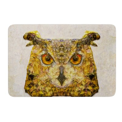 Abstract Owl by Ancello Bath Mat Size: 17W x 24L