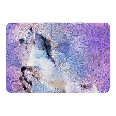 Abstract Horse by Ancello Bath Mat Size: 17W x 24L