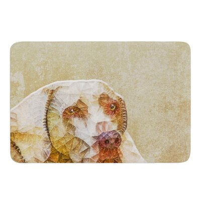 Abstract Dog by Ancello Bath Mat Size: 24 W x 36 L