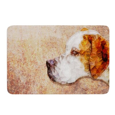 Abstract Beagle by Ancello Bath Mat Size: 17W x 24L