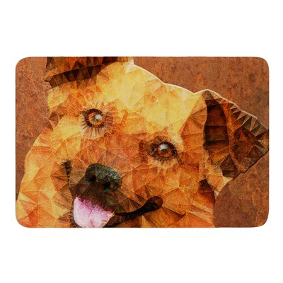 Abstract Puppy by Ancello Bath Mat Size: 17W x 24L