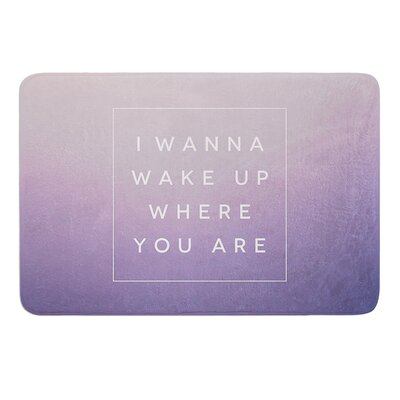 Wake Up by Galaxy Eyes Bath Mat Size: 17W x 24L