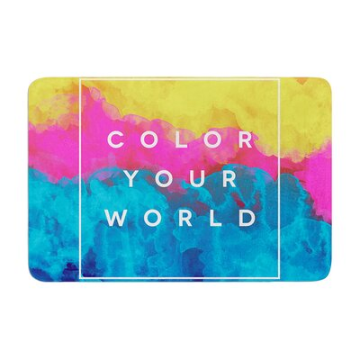 Color Your World by Galaxy Eyes Bath Mat Size: 24 W x 36 L