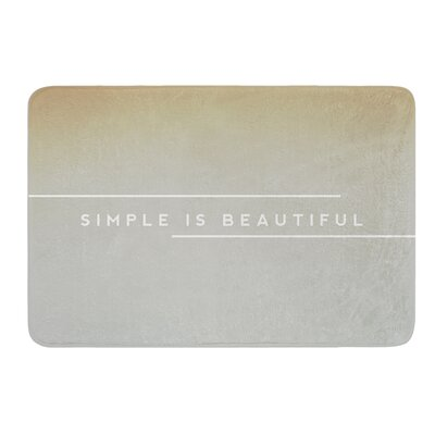 Simple Beautiful by Galaxy Eyes Bath Mat Size: 24 W x 36 L