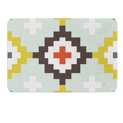 Moroccan Diamonds by Pellerina Design Bath Mat Size: 17W x 24L