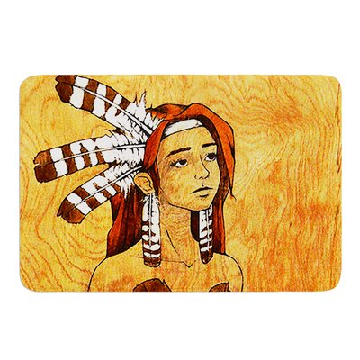 Owl Feather Dress by Brittany Guarino Bath Mat Size: 17W x 24L