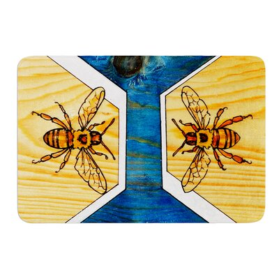 Bees by Brittany Guarino Bath Mat Size: 24 W x 36 L
