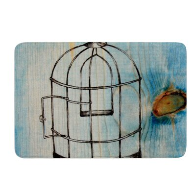 Bird Cage by Brittany Guarino Bath Mat Size: 24 W x 36 L