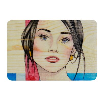 Face by Brittany Guarino Bath Mat Size: 17W x 24L