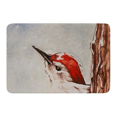 Downy Woodpecker by Brittany Guarino Bath Mat Size: 17W x 24L