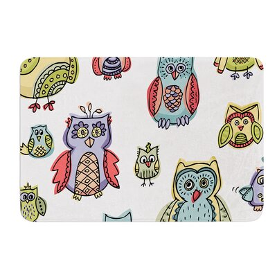 Owls by Brienne Jepkema Bath Mat Size: 17W x 24L