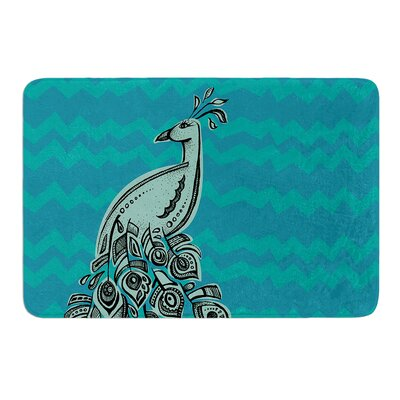 Peacock II by Brienne Jepkema Bath Mat Size: 17W x 24L
