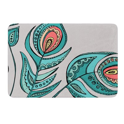 Feathers by Brienne Jepkema Bath Mat Size: 17W x 24L