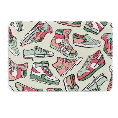 Sneaker Lover IV by Brienne Jepkema Bath Mat Size: 24 W x 36 L