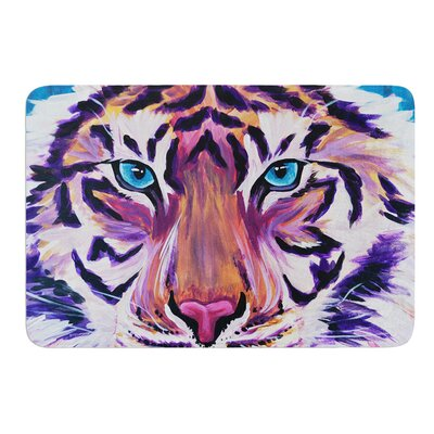 Purple Tiger by Brienne Jepkema Bath Mat Size: 17W x 24L