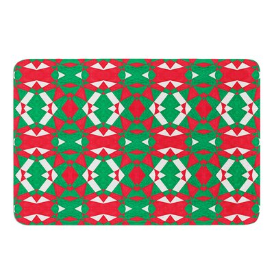 Christmas Geo by Empire Ruhl Bath Mat Size: 17W x 24L
