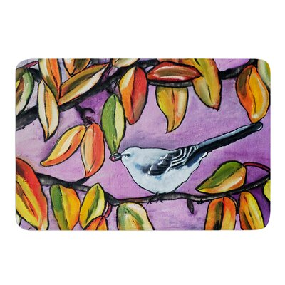 Mockingbird by Cathy Rodgers Bath Mat Size: 17W x 24L