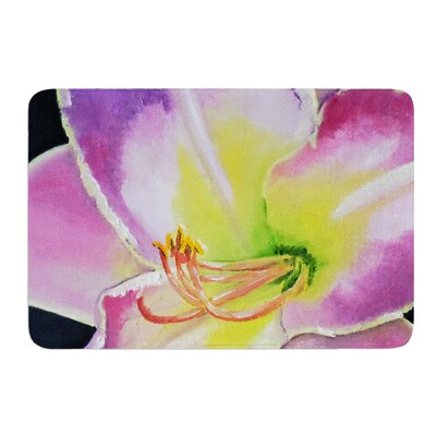 Violet and Lemon by Cathy Rodgers Bath Mat Size: 17W x 24L
