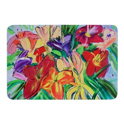 Matisse Styled Lillies by Cathy Rodgers Bath Mat Size: 17W x 24L