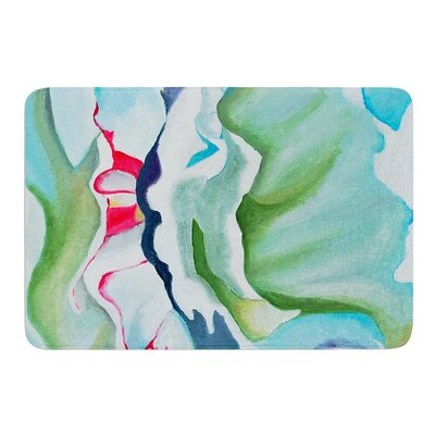 Peony Shadows by Cathy Rodgers Bath Mat Size: 24 W x 36 L