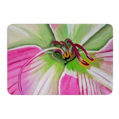 Pink and Green by Cathy Rodgers Bath Mat Size: 17W x 24L