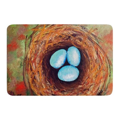 Robins Eggs by Cathy Rodgers Bath Mat Size: 17W x 24L