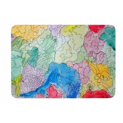 Floral Pathway by Cathy Rodgers Bath Mat