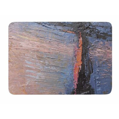 Coral and Blue by Carol Schiff Bath Mat